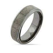 Celtic Knot Engravable Tungsten Ring