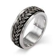 Sterling Silver Braided Design Spinner Band