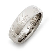 The One Ring Inspired Tungsten Ring