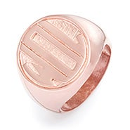 Block Monogram Rose Gold Vermeil Signet Ring