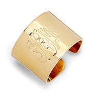 Gold Plated Monogram Cuff