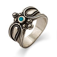 Sterling Silver Bali Style Turquoise Ring