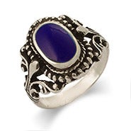 Sterling Silver Vintage Design Lapis Ring