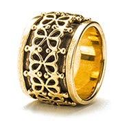 Lucky Clover Bronze Spinner Ring