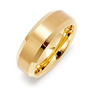 Men's Brushed Gold Tungsten Ring