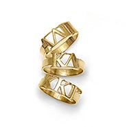 Sorority Greek Letter Ring in Gold