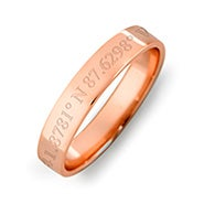 Custom Coordinate 4mm Rose Gold Ring