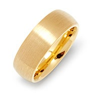 Men's 8mm Brushed Gold Tungsten Ring