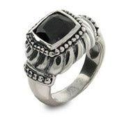 Designer Inspired Black Onyx Square Ring