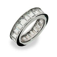 Sterling Silver Diamond CZ Glamour Band