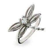 Designer Style CZ Dragonfly Ring