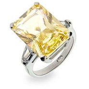 Celebrity Inspired Canary CZ Engagement Ring