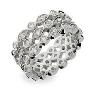Designer Style CZ Sway Eternity Band