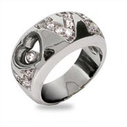 Designer Inspired Floating CZ Love Ring