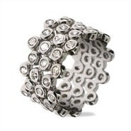 Designer Style CZ Bubbles Stackable Ring Set