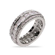 Celebrity Style CZ Wedding Band