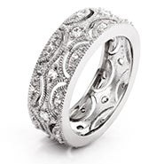 Exquisite Victorian Style CZ Wedding Band