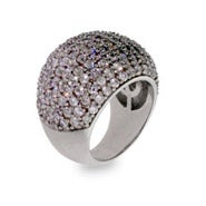 Designer Inspired Glamorous Pave CZ Cocktail Ring
