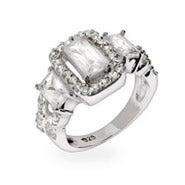 Elegant Celebrity Style Past, Present & Future CZ Engagement Ring