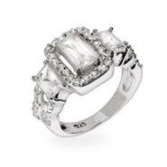 Elegant Celebrity Style Past, Present & Future CZ Engagement Ring