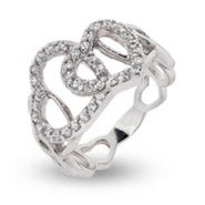 Linked Hearts Friendship Ring