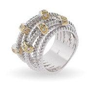 Designer Inspired Seven Band Highway Ring