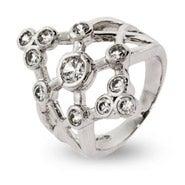 Designer Style 11 Stone Bezel Set CZ Bubbles Ring