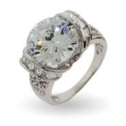 Celebrity inspired cubic zirconia engagement rings