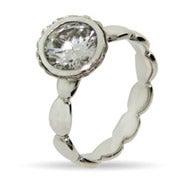 Round Brillant Cut Vintage CZ Stackable Ring