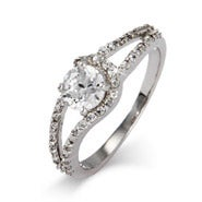 Sterling Silver Brilliant Cut CZ Promise Ring