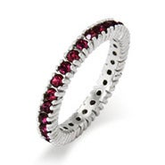 Sparkling February Birthstone Stackable Ring