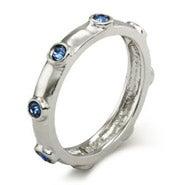 Sapphire September Birthstone Bezeled Ring