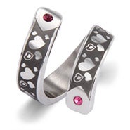Hearts Desire Engravable Couples Birthstone Ring