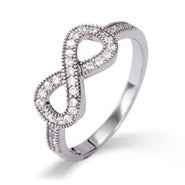 Sparkling Pave CZ Infinity Ring