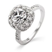Art Deco Vintage Glam Diamond CZ Ring