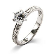 1 Carat Brilliant Cut CZ Engagement Ring