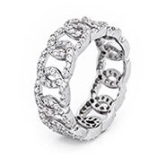 Infinity Linked CZ Sterling Silver Eternity Band