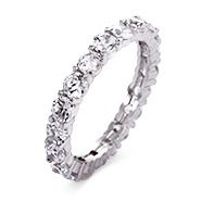 Brillant Cut CZ Stackable Eternity Band