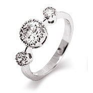 Brilliant Cut Past Present Future CZ Promise Ring