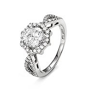 Elegant Brilliant Cut Halo CZ Engagement Ring