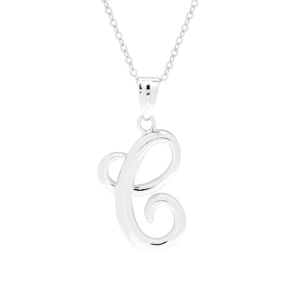 CS-DB Pendants Link Chain Disc with Clear CZ Silver Necklaces