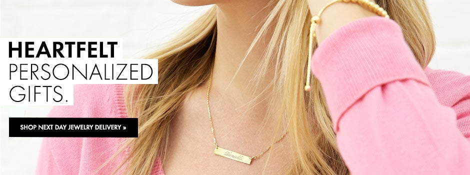 Shop Personalized Jewelry that Ships in 24 Hours