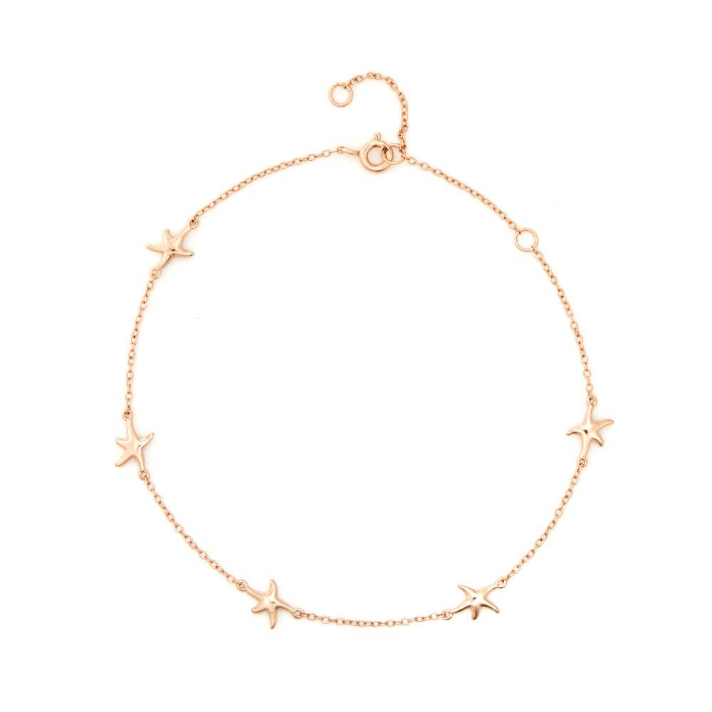cute rose gold anklets foot statement steel chain ankle beach plated jewelry romantic barefoot seven in fate bracelet from gift bells love item anklet woman