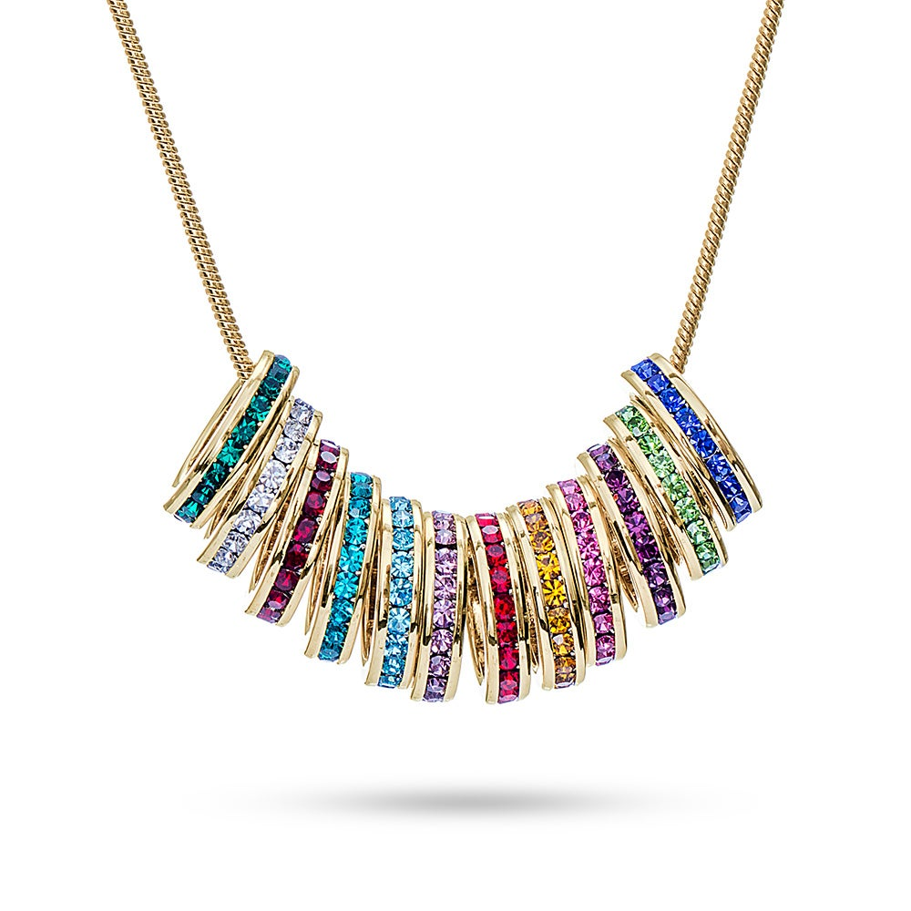 personalized stackable rounded love layered round item disc necklace