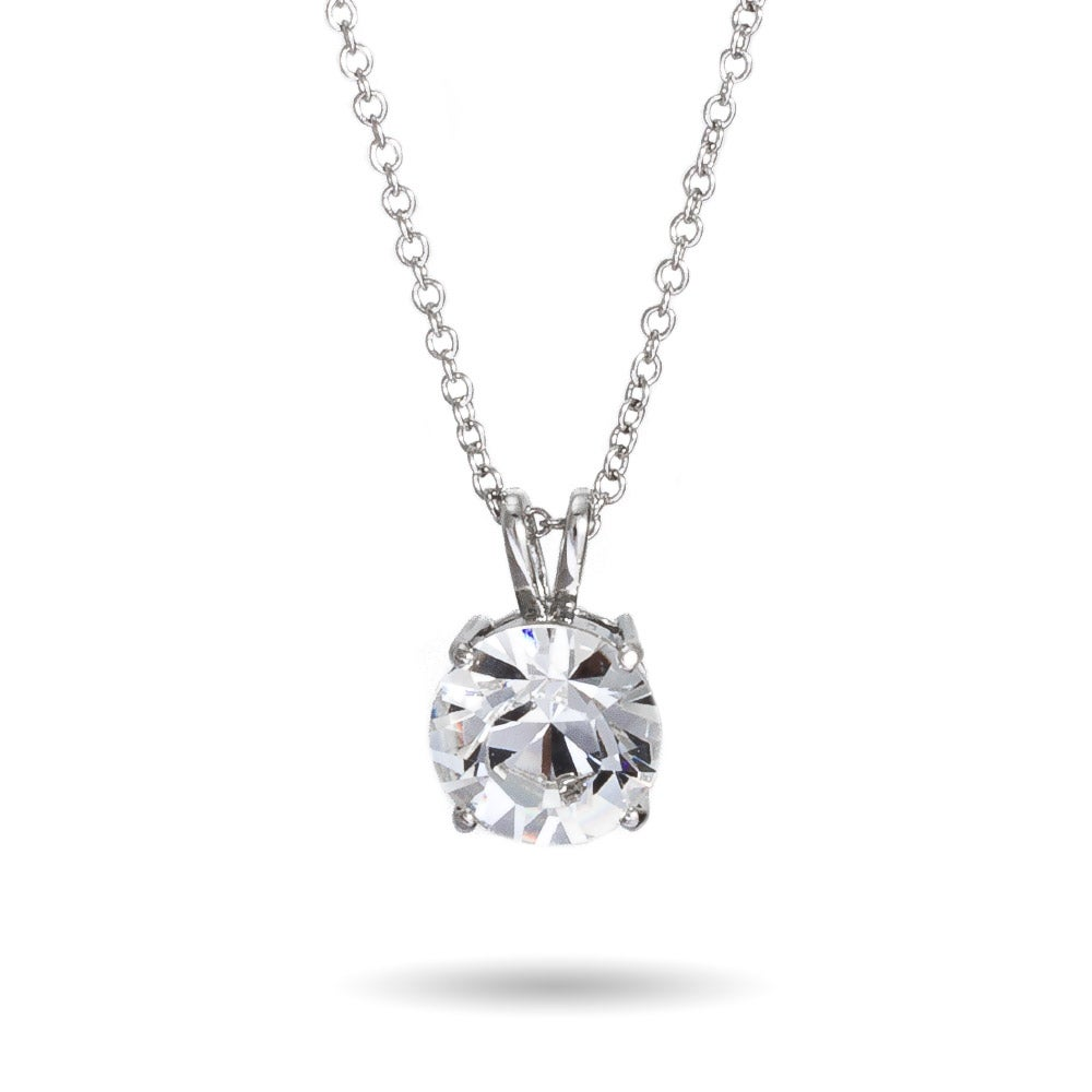 Carat brilliant cut solitaire swarovski crystal necklace 7 carat brilliant cut solitaire swarovski crystal pendant mozeypictures Image collections