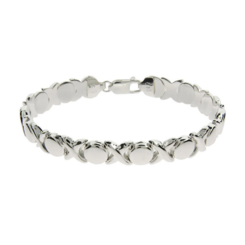 Silver Hugs and Kisses Bracelet