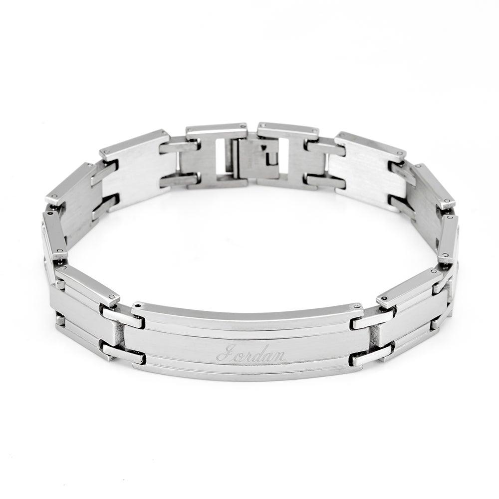 Men S Stainless Steel Id Bracelet