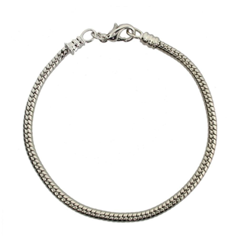 Lobster Clasp Bead Bracelet Pandora Compatible