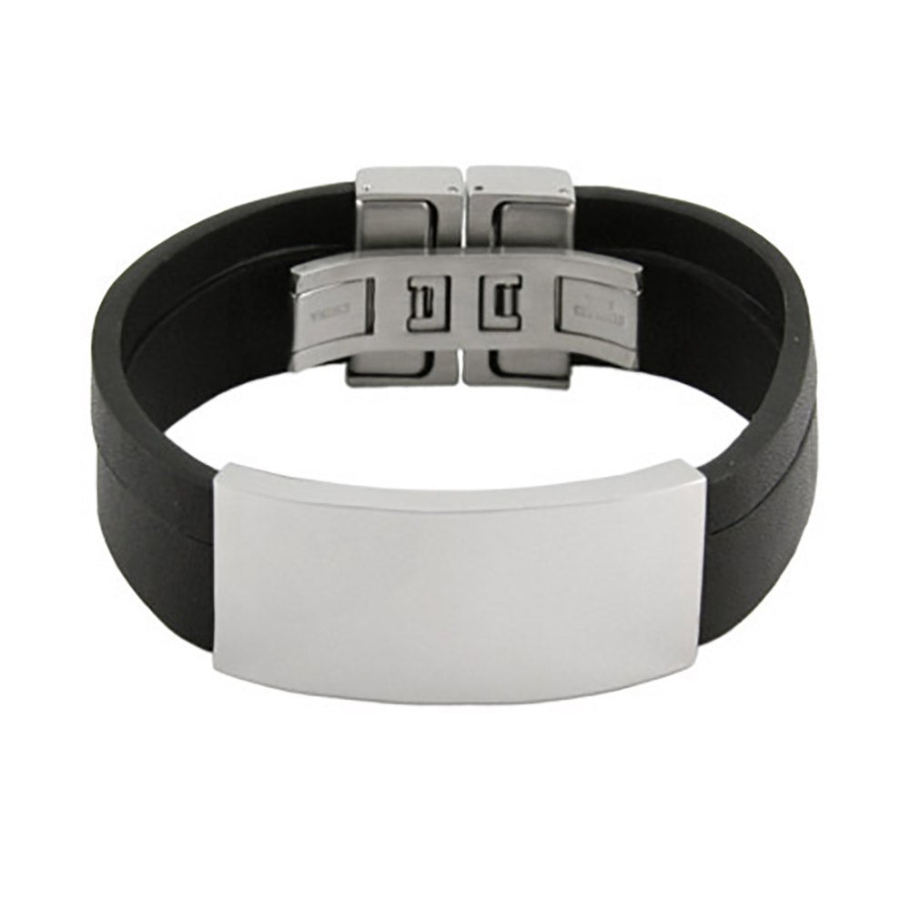 uniqjewelrydesigns mens id home information bracelet personalized