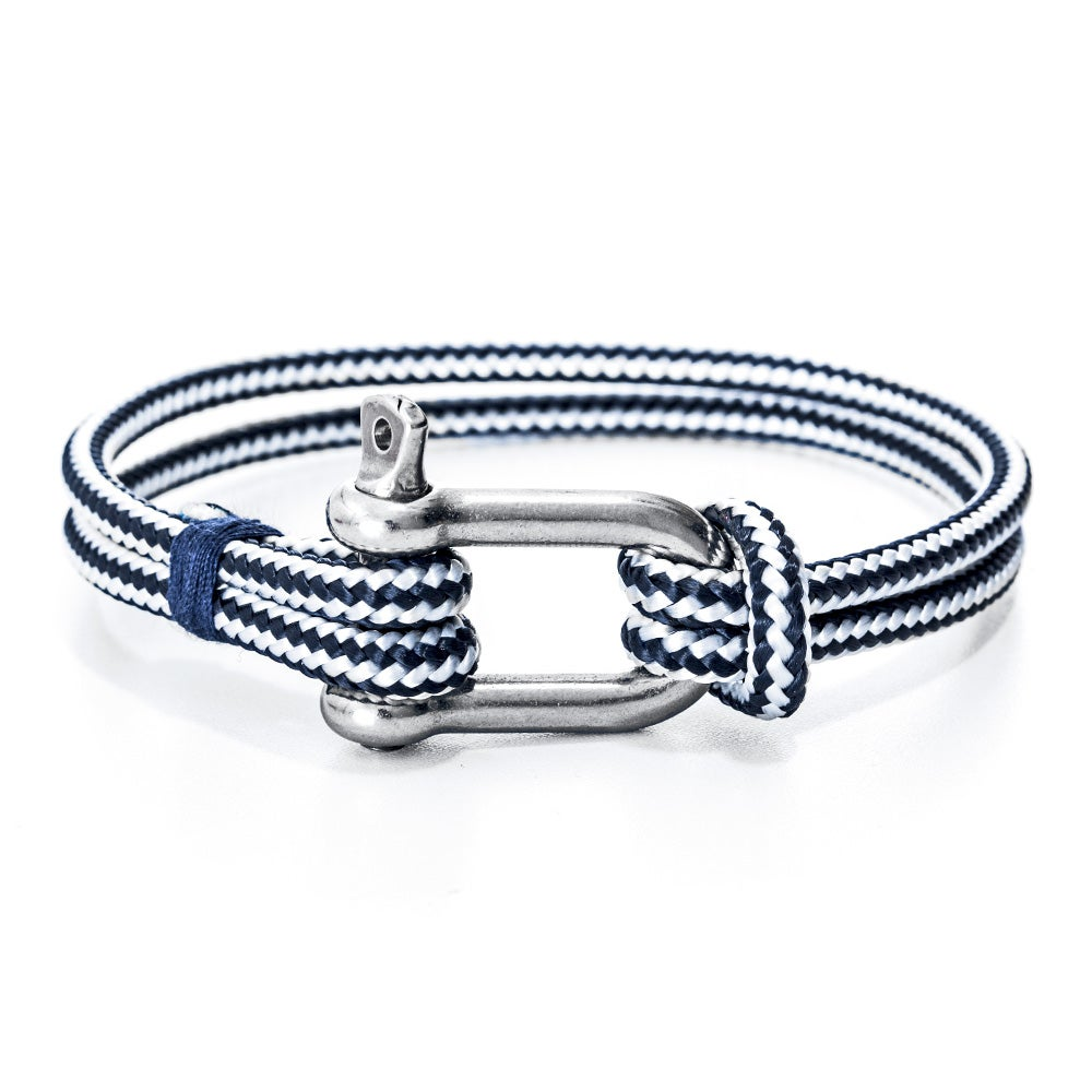 nautical product anchor horizon white nh and gold bracelet navy